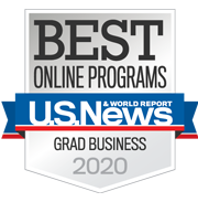 Best Online Programs - Graduate Business 2020 badge
