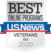 Best Online Programs for Veterans - MBA 2020 badge