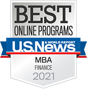U.S. News & World Report Best Online MBA Finance Programs 2021