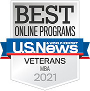 U.S. News & World Report Best Online MBA Programs for Veterans 2021