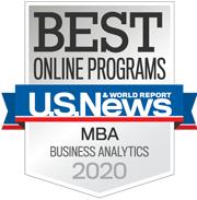 Best Online Programs- MBA Business Analytics 2020 badge