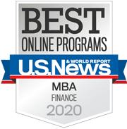 Best Online Programs - MBA Finance 2020 badge