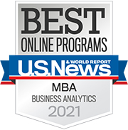 U.S. News & World Report Best Online MBA Business Analytics Programs 2021