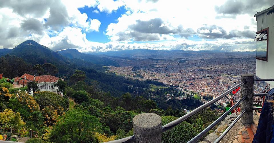 The view from Monserrate Mountain in Bogota, Colombia