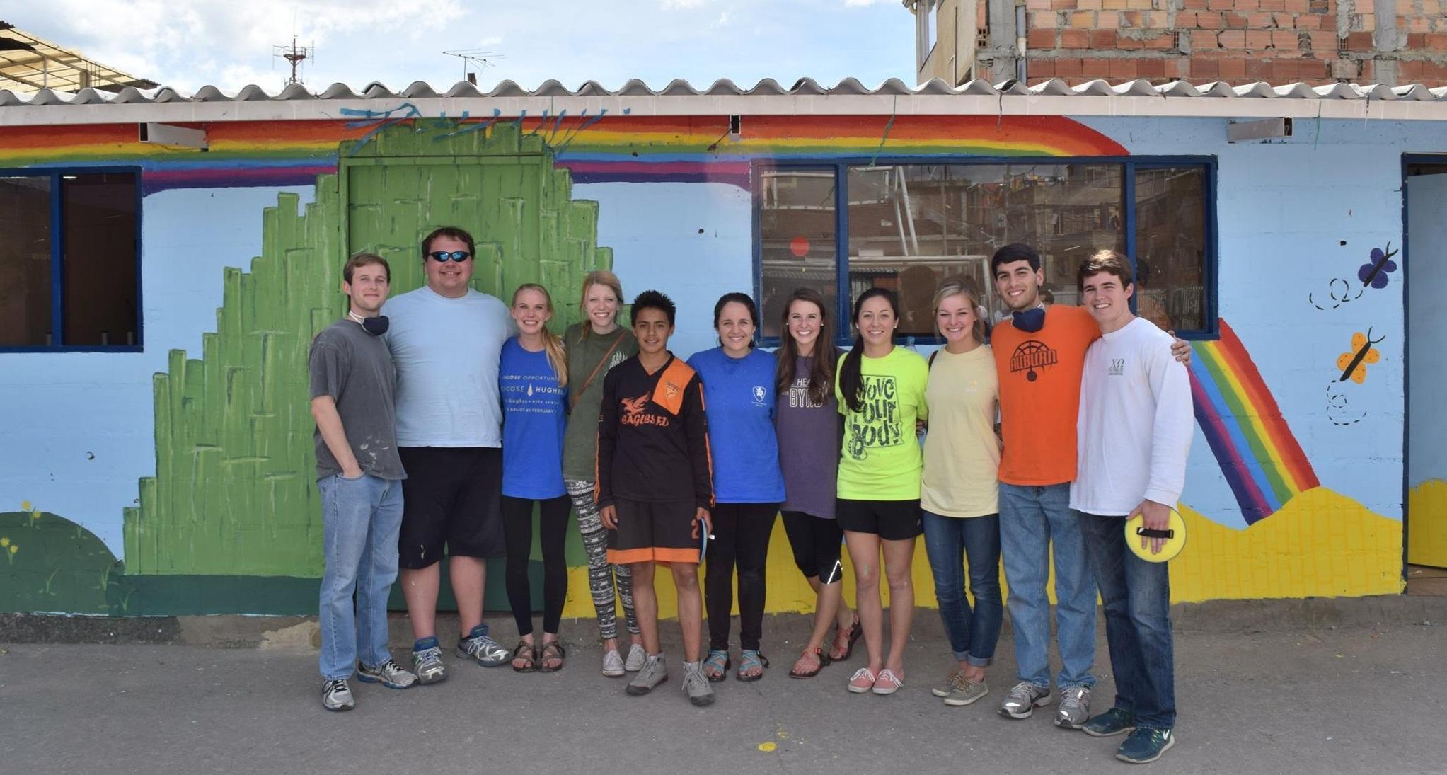 MAcc students painted a school in Bogota