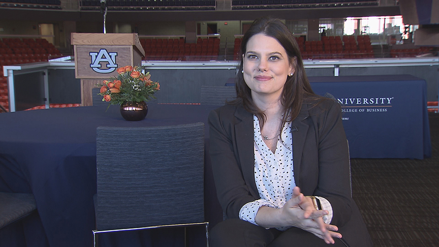 Flexibility, challenging curriculum are strengths of Auburn's Online MBA program according to Kelly Schmidt, Talent Acquisition and HR Business Partner at Yum! Brands