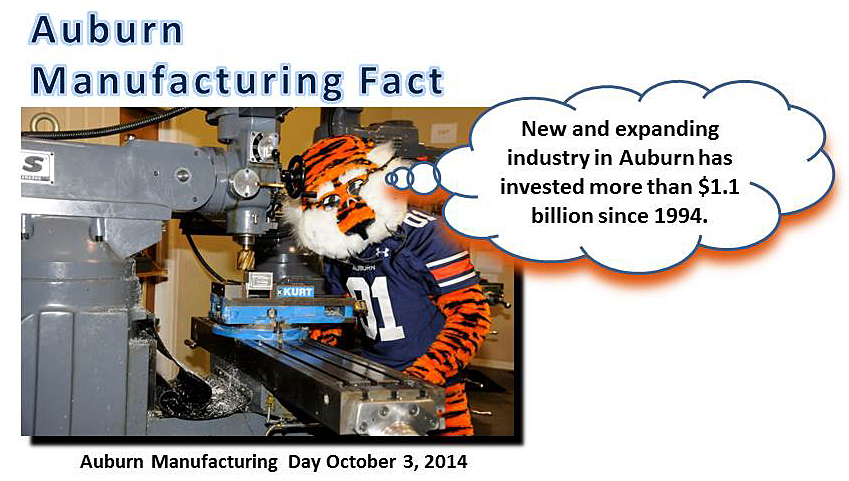 Aubie celebrates manufacturing day
