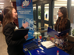 Career Expos give students the opportunity to meet with company representatives.