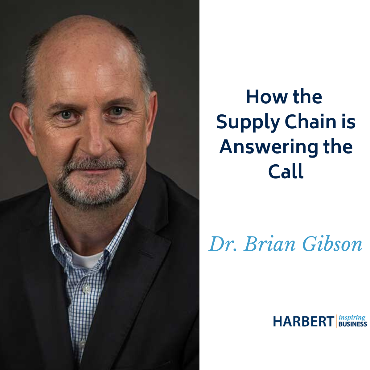 Brian Gibson: Supply chains are resilient, they bend but typically don't break. Adjustments are being made by companies to continue serving demand.