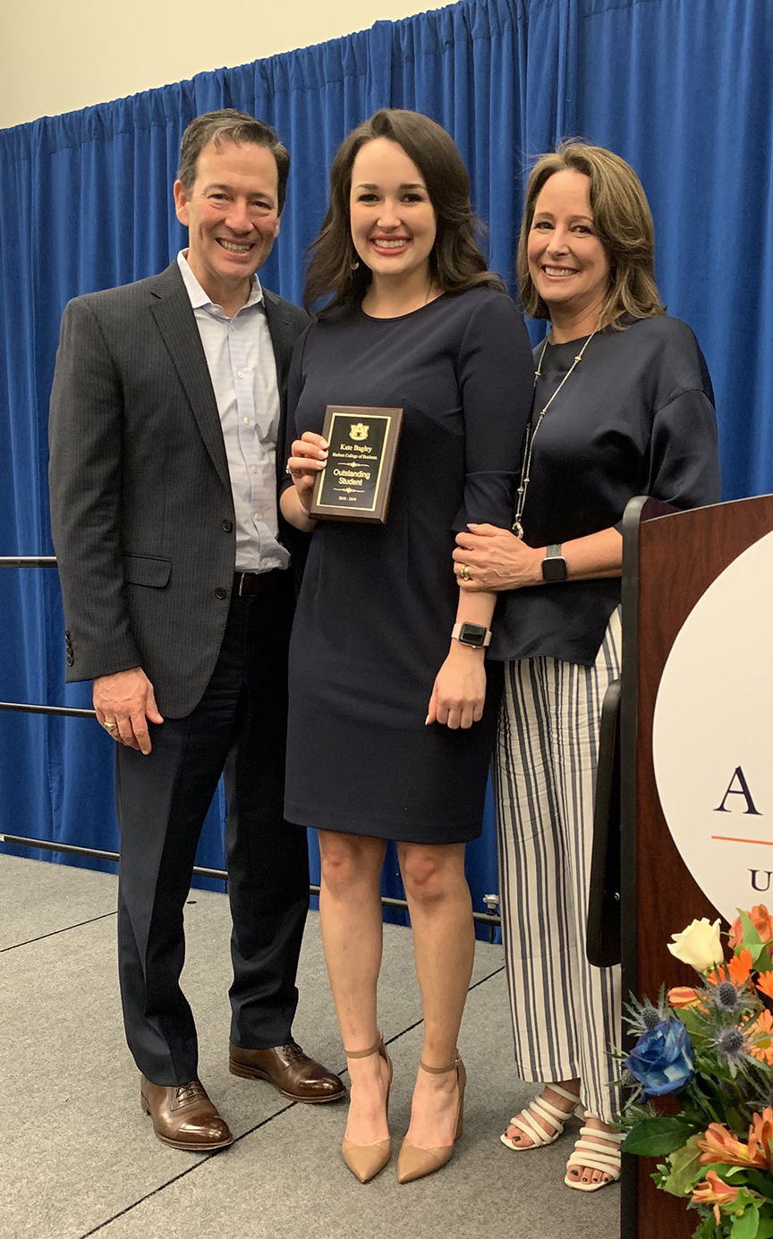 Kate Bagley is the SGA Outstanding Student of the Year for the Harbert College -- her mother, Betsy Osterling Bagley, won the same award 31 years ago.